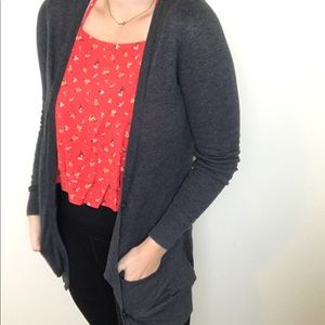 Forever 21 Gray Soft Cardigan